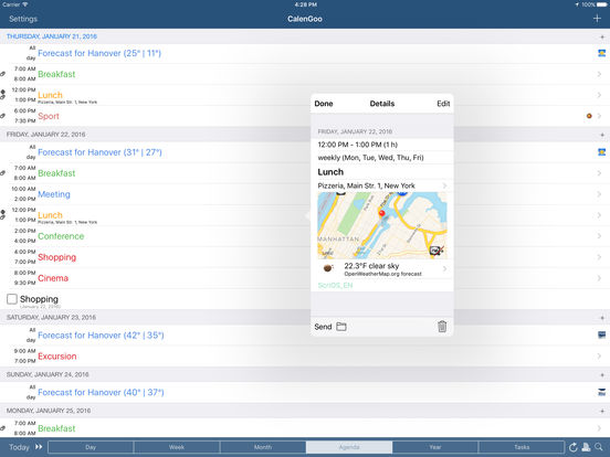 CalenGoo (sync with Google Calendar™) iPad Screenshot 1