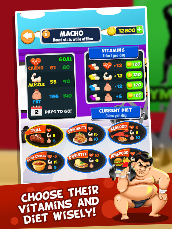 Screenshots of Gym Fit to Fat Race - real run jump-ing & wrestle boxing games for kids! for iPad
