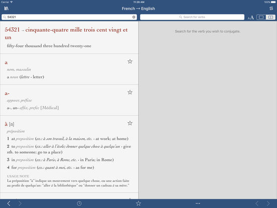 French-English Medical Translation Dictionary by Ultralingua iPad Screenshot 3