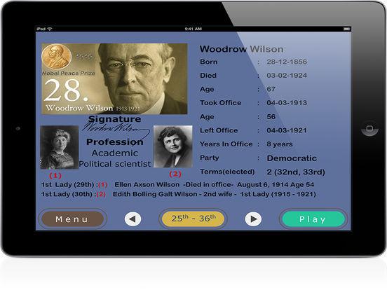 PairPlay USA Presidents iPad Screenshot 2