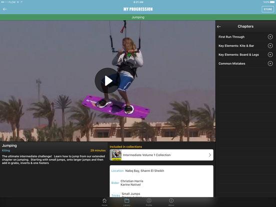 Progression Player for Kitesurfing and Kiteboarding screenshot