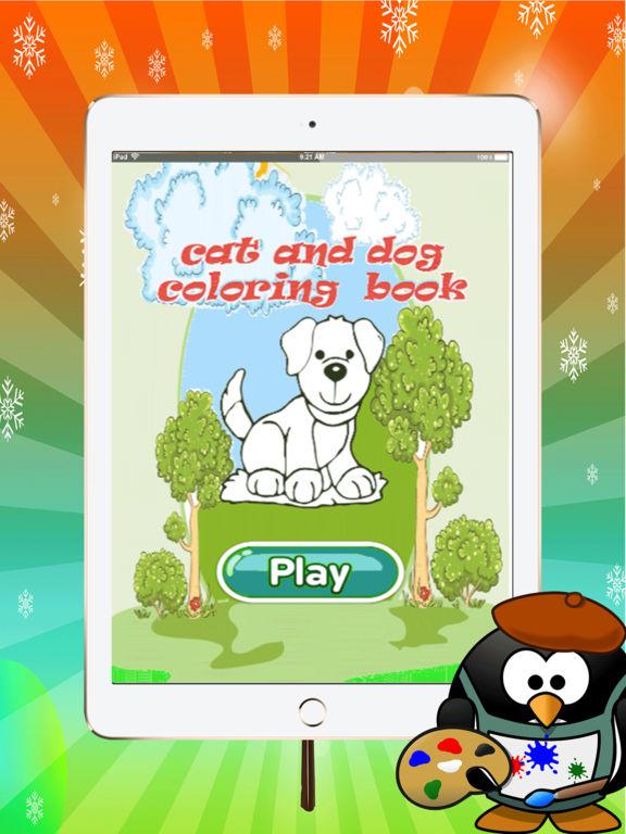Удивительно, кошка и собака раскраска: изучить основные цвета для рисования для малышей: весело и свободно Скриншоты6