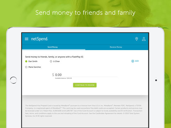 netSpend - Mobile Banking iPad Screenshot 4