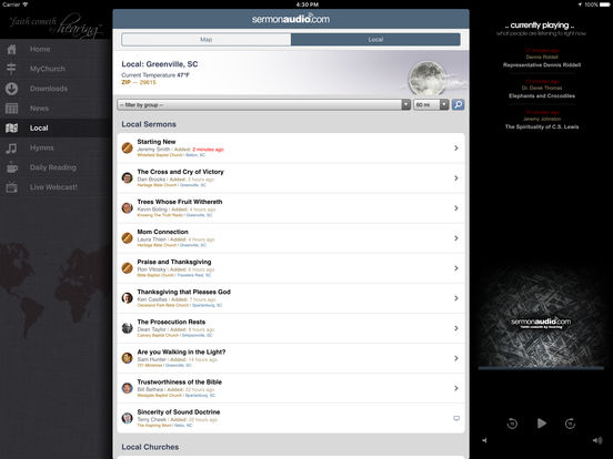 SermonAudio iPhone Edition iPad Screenshot 5