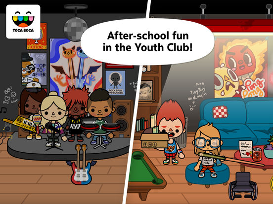 Screenshots of Toca Life: School for iPad