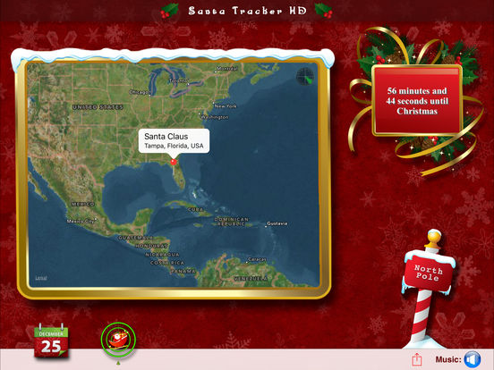Santa Tracker HD - Countdown to Christmas & Track Santa Claus iPad Screenshot 2