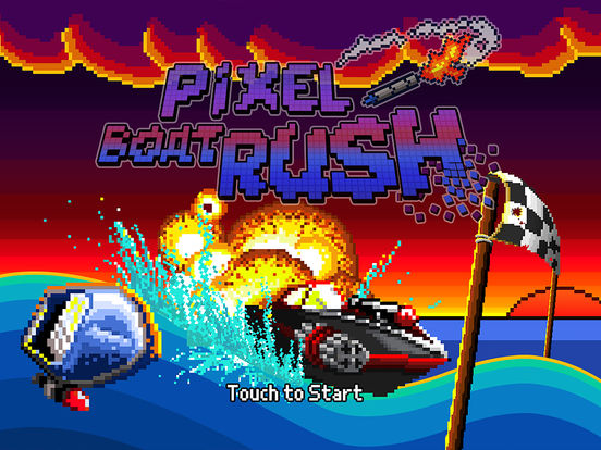 Screenshot #1 for Pixel Boat Rush