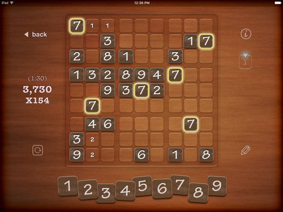 Screenshots of ▻Sudoku for iPad