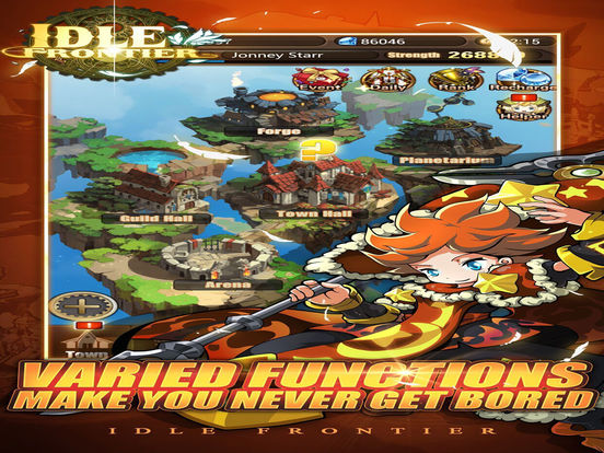 Screenshots of Idle Frontier-best rpg adventure games for iPad