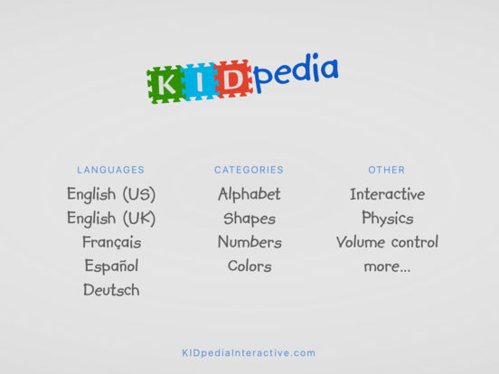 Alphabet, Numbers, Shapes & Colors by KIDpedia Screenshots