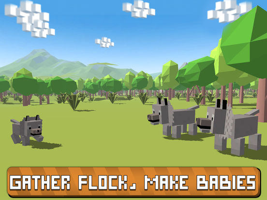 Blocky Wolf Simulator 3D Full screenshot 6