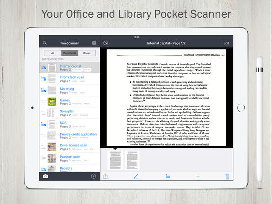 FineScanner scan & recognize documents to PDF, JPG Screenshots