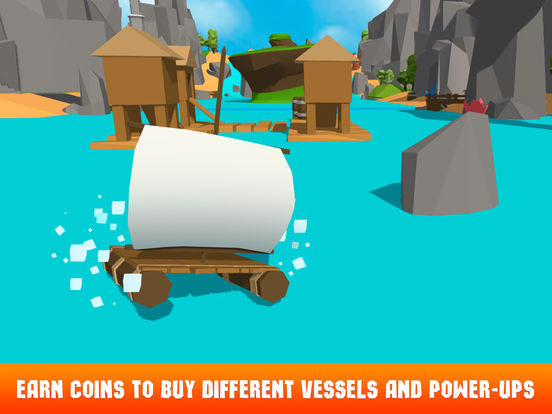 Pixel Boat Crash: Faily Brakes Full Screenshots
