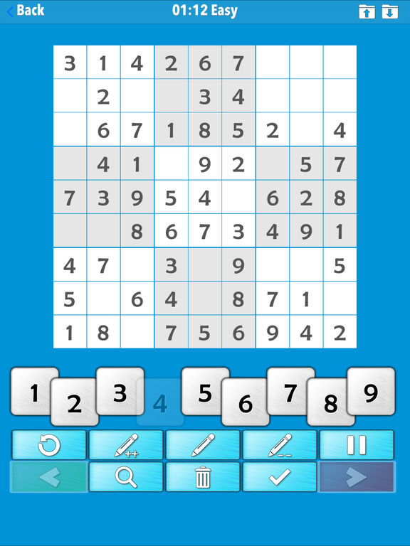 ⊲Sudoku screenshot