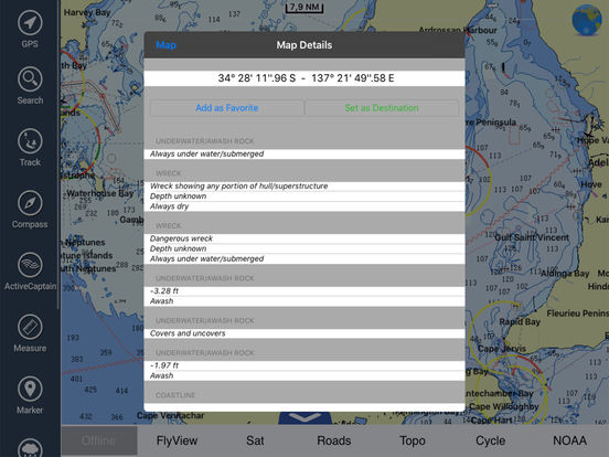 Marine: Adelaide HD - GPS Map Navigator iPad Screenshot 2