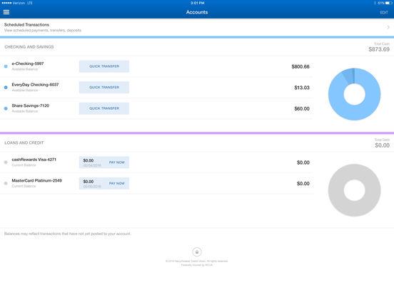 Navy Federal Credit Union iPad Screenshot 3
