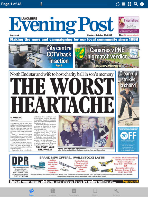 lancashire evening post dating A preston perspective on news, sport, what's on, lifestyle and more, from the north west's regional paper, lancashire evening post.