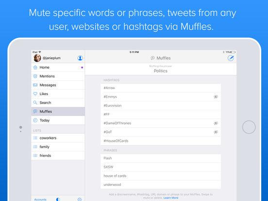 Twitterrific 5 for Twitter Screenshots
