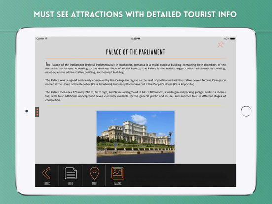 Bucharest Travel Guide iPad Screenshot 3