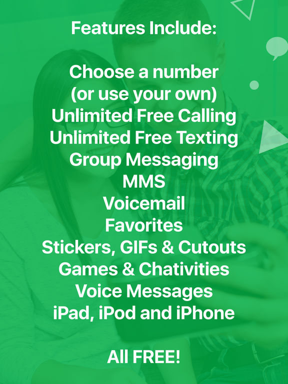 Screenshots of textPlus Free Text + Calls : Free Texting + Free Phone Calling + Free International Messenger for iPad
