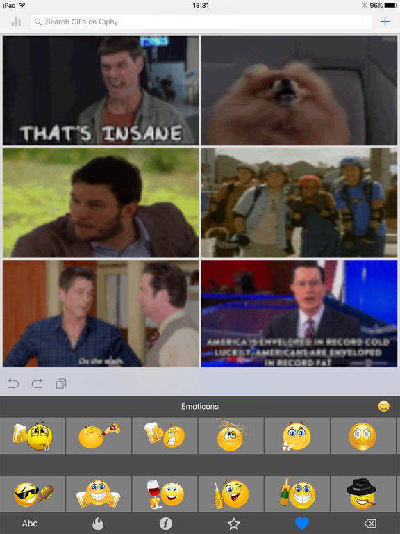 Gkf : Gif Keyboard Free & Animated Emojis Stickers Emoticons for Whats.app Chatting screenshot