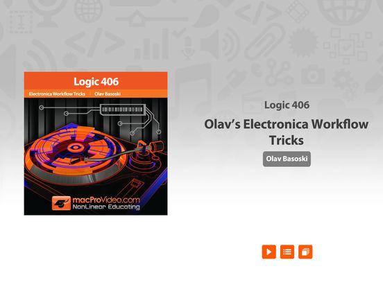Logic's Electronica Workflow Tricks iPad Screenshot 1
