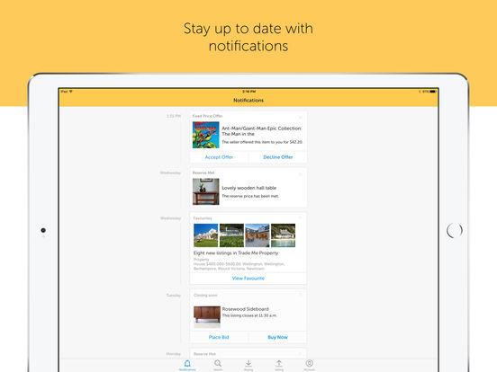 Trade Me iPad Screenshot 2