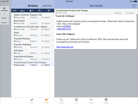 Toodledo - To Do List iPad Screenshot 1