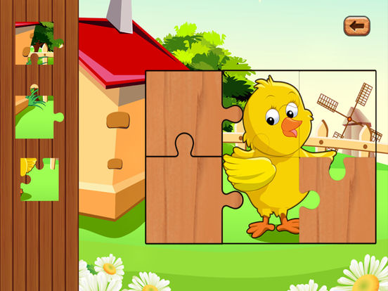 Farm baby games and animal puzzles for kids