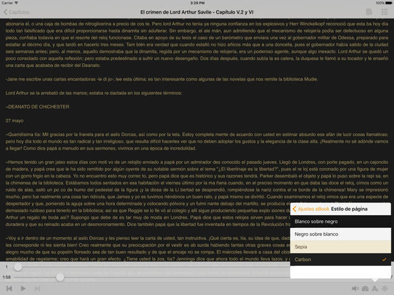 AudioEbook El crimen de Lord Arthur Savile de Oscar Wilde iPad Screenshot 2