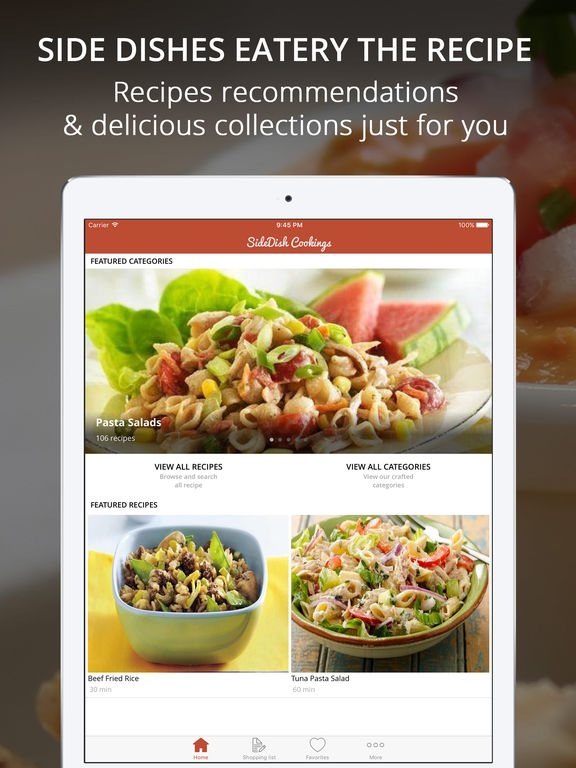 Side Dishes Recipes Pro - Cook And Learn Guide Screenshots