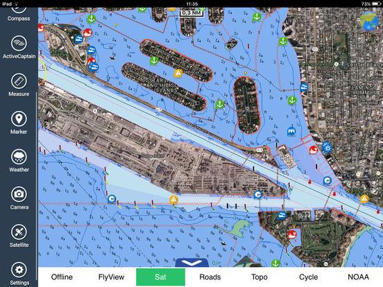 Miami to Key West HD - Water Map Navigator iPad Screenshot 3