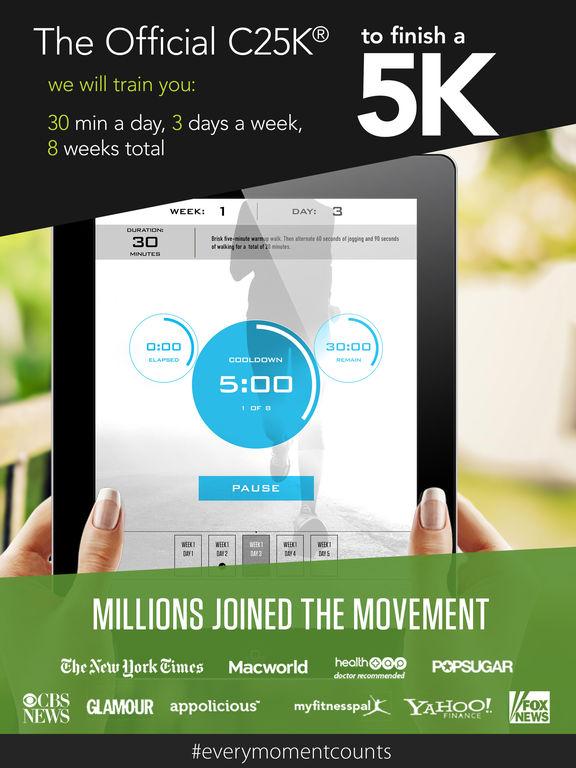 C25K® 5K Trainer Pro (Couch Potato to Running 5K) Screenshots