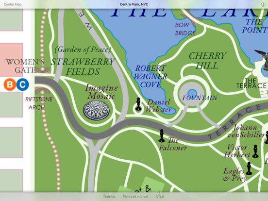 Discover Central Park HD iPad Screenshot 3