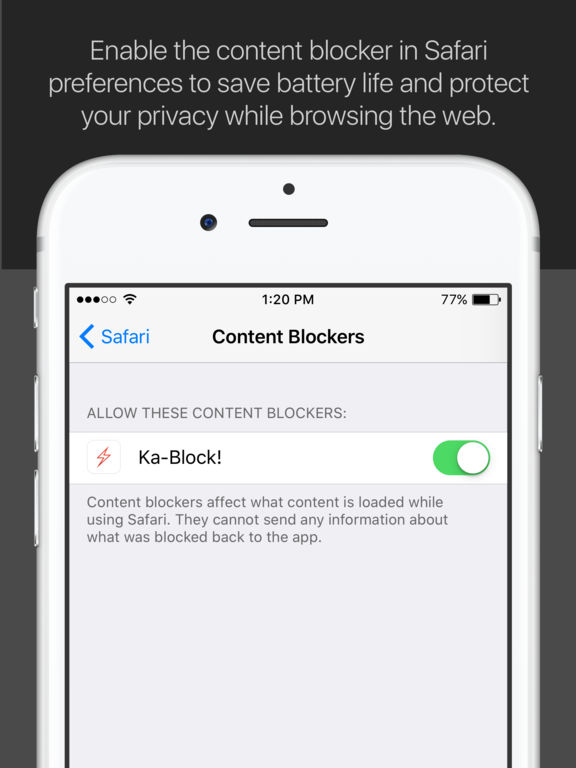 Ka-Block! — Block ads & tracking scripts screenshot