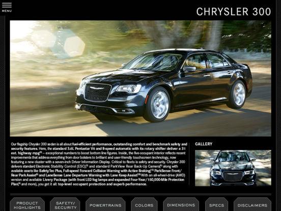 2011 Chrysler Group Fleet iPad Screenshot 1