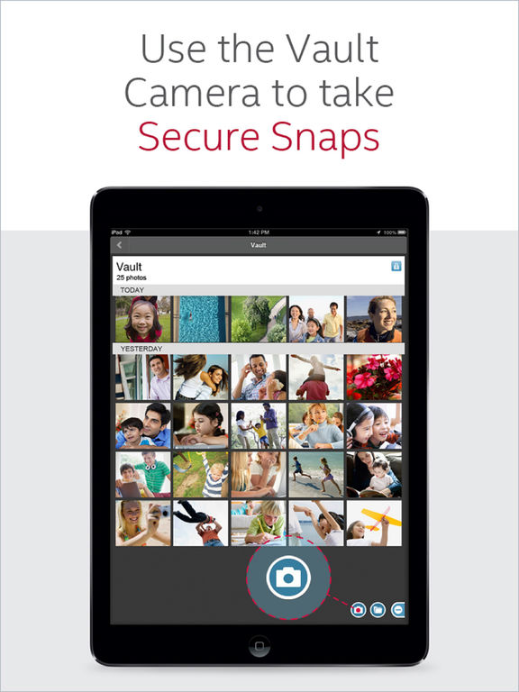 McAfee Mobile Security, Vault, Backup and Locate Screenshot