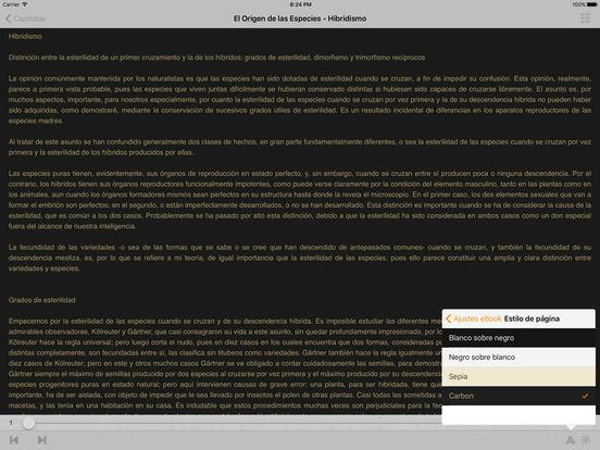 El Origen de las Especies - Charles Darwin iPad Screenshot 2