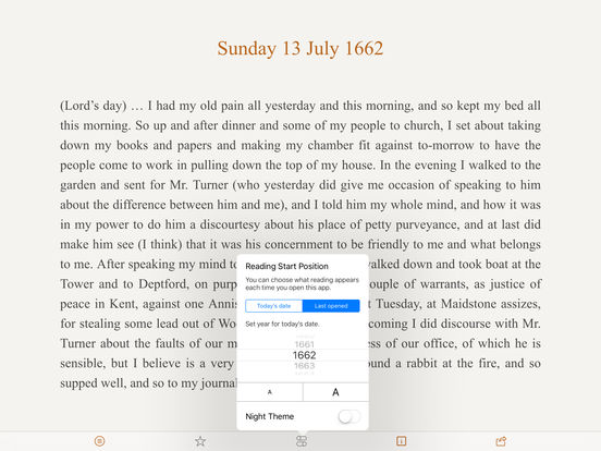 Pepys Diary iPad Screenshot 2