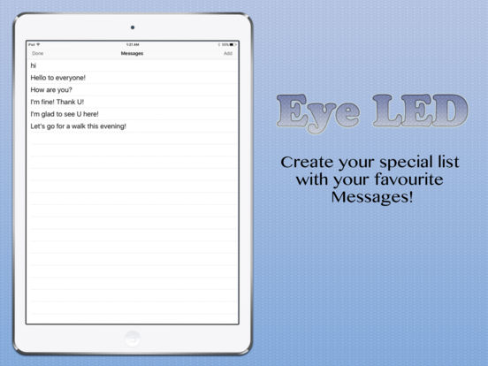 eyeLED - The LED Message Banner App Screenshots