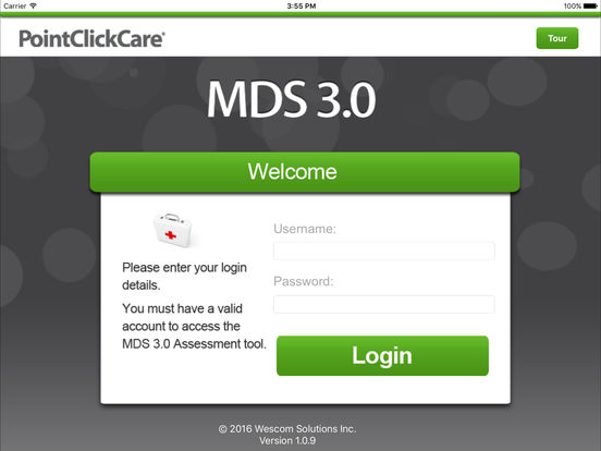 PointClickCare Mobile MDS iPad Screenshot 1