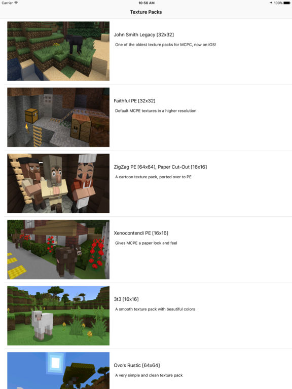 Texture Packs+ for Minecraft PE Screenshots
