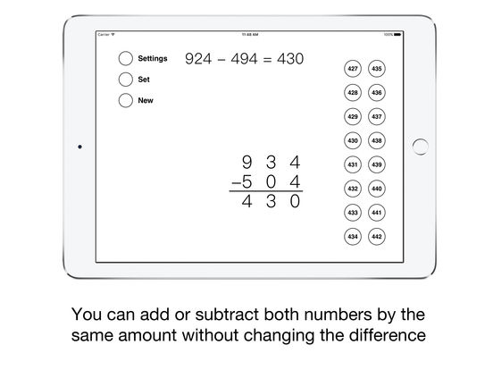 Same-Change Subtraction iPad Screenshot 2