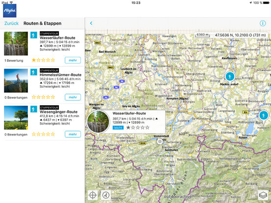 Allgäu iPad Screenshot 3