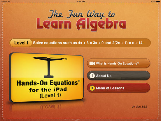 Hands-On Equations 1: The Fun Way to Learn Algebra Screenshots
