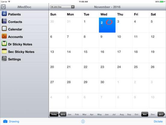 iMedDoc-EMR iPad Screenshot 1