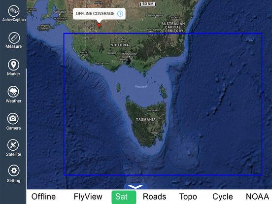 Marine: Melbourne HD - GPS Map Navigator iPad Screenshot 5