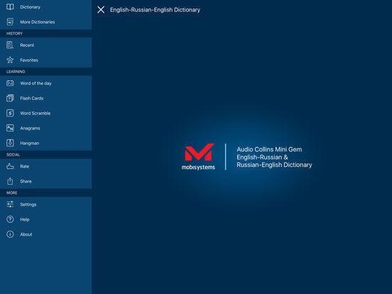 Audio Collins Mini Gem English-Russian & Russian-English Dictionary iPad Screenshot 1