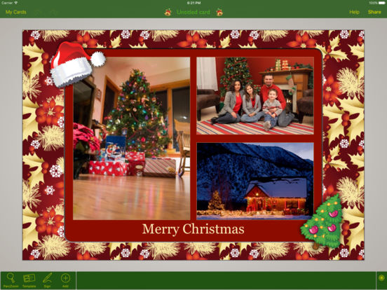 Christmas Lifecards iPad Screenshot 1