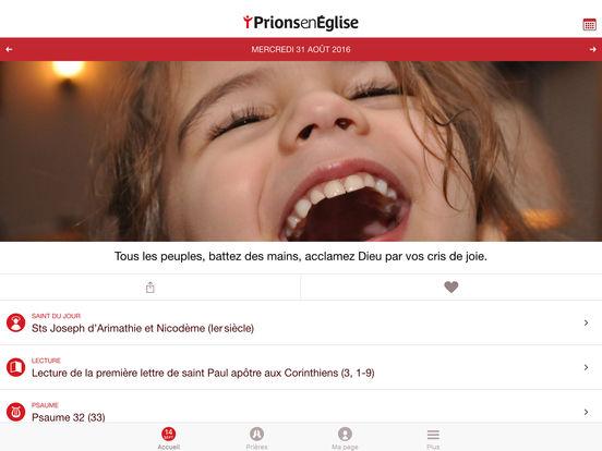 Prions en Église : une appli dédiée à la prière quotidienne iPad Screenshot 1